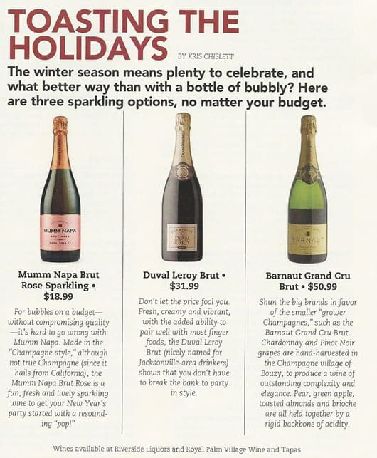 Tasting the Holidays: Bubbles for any Budget